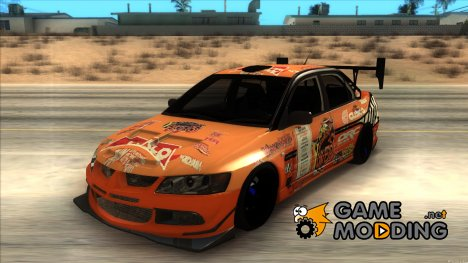 Mitsubishi Lancer Evo 9 Kumakubo Team Orange для GTA San Andreas