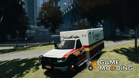 Ford F-350 Ambulance FDNY for GTA 4