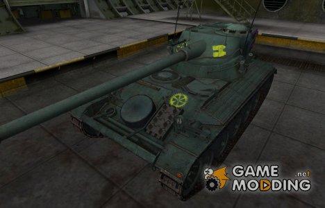 Контурные зоны пробития AMX 13 90 for World of Tanks