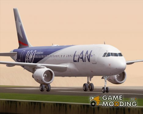 Airbus A320-200 LAN Airlines - 100 Airplanes (CC-BAA) for GTA San Andreas