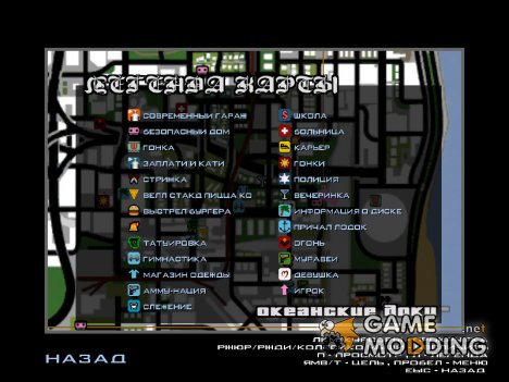 Иконки радара в стиле GTA Vice City for GTA San Andreas