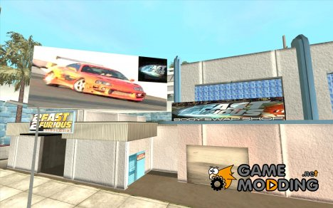 2Fast2Furious Transfender & Pay'n Spray mod для GTA San Andreas