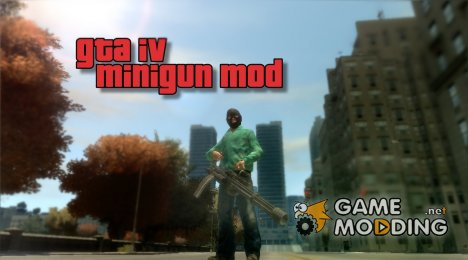 GTA IV Minigun Mod for GTA 4