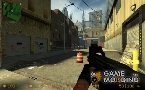 Black P90 With New Origins for Counter-Strike Source