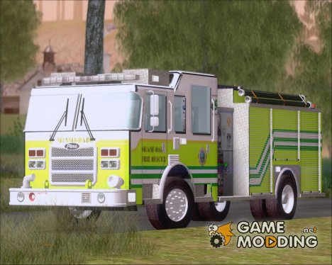 Pierce Arrow XT Miami Dade Fire Department Engine 45 для GTA San Andreas