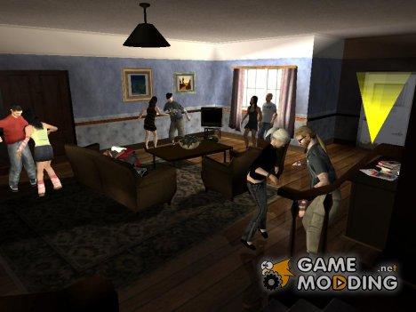Вечеринка в доме Карла v2 for GTA San Andreas