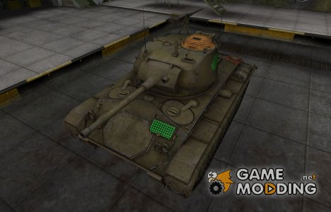 Зона пробития M24 Chaffee for World of Tanks