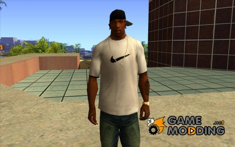 White Nike Shirt for GTA San Andreas