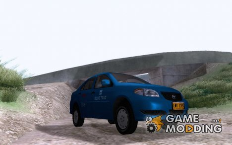 Toyota Vios - BLUE TAXI for GTA San Andreas