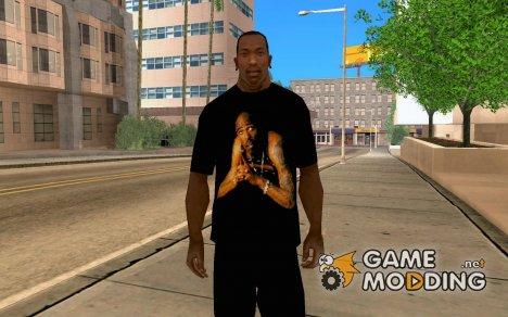 футболка с изображением 2pac для GTA San Andreas
