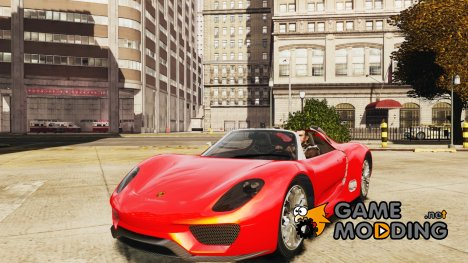 Porsche 918 Spyder для GTA 4