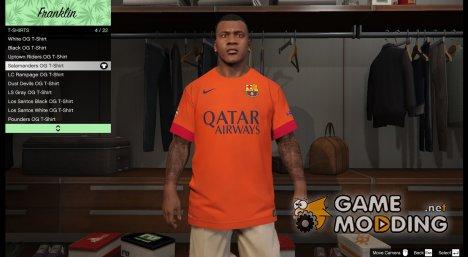 Футболка FC Barcelona для Франклина for GTA 5
