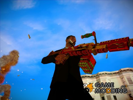 Новогодний M240B из WarFace for GTA San Andreas