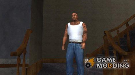3d original vest by AleksGTA (белая) for GTA San Andreas