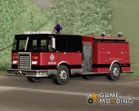 Firetruck - Metro Fire Engine 69 for GTA San Andreas