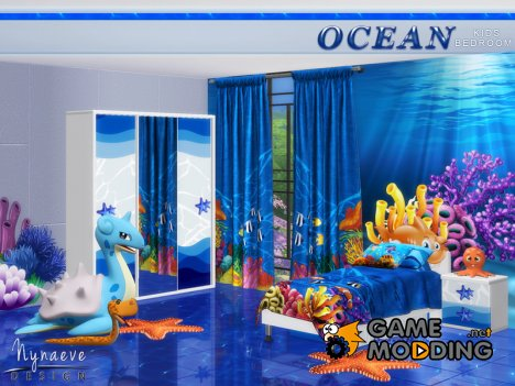 Ocean Kids Bedroom for Sims 4