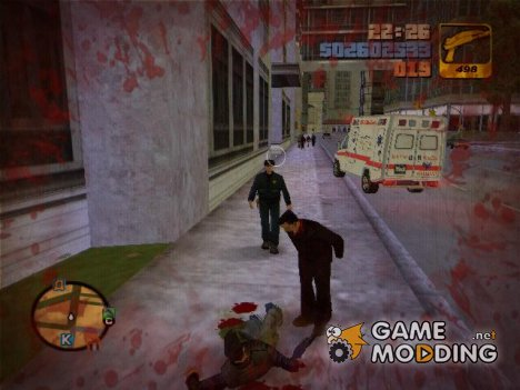 Revelations On-screen Blood for GTA 3