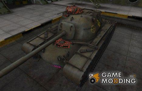 Контурные зоны пробития M48A1 Patton для World of Tanks