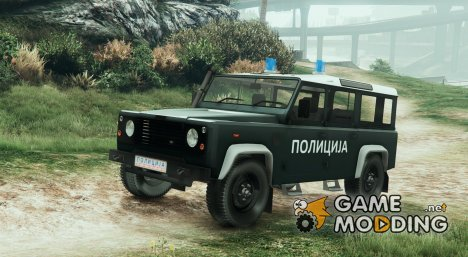 Land Rover Defender Macedonian Police для GTA 5