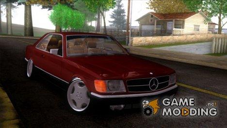 Mercedes-Benz C126 560SEC Stance для GTA San Andreas