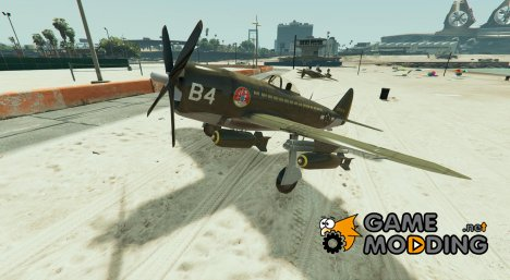 Republic P-47 Thunderbolt v2 для GTA 5