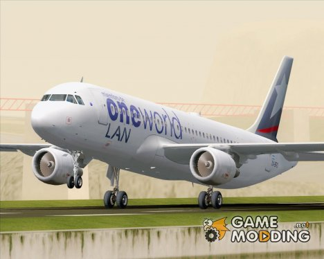 Airbus A320-200 LAN Argentina - Oneworld Alliance Livery (LV-BFO) for GTA San Andreas