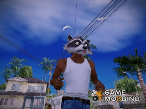 Raccoon mask (GTA V Online) для GTA San Andreas