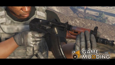AK-74U stocked for GTA 5