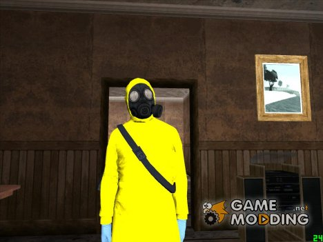 GTA V Online The Heist Gasmask Yellow for GTA San Andreas