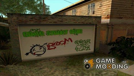 HD Граффити гаража CJ for GTA San Andreas