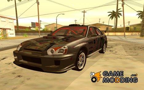 Subaru Impreza WRX STI Drift w/ Mahouka Koukou No Rettousei Itasha 2004 для GTA San Andreas