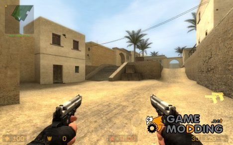 Brighter silver & Wood grip для Counter-Strike Source
