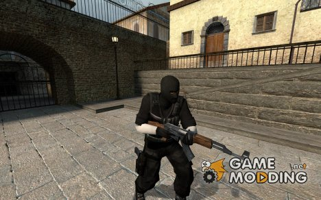 Gray And Black Terrorist для Counter-Strike Source