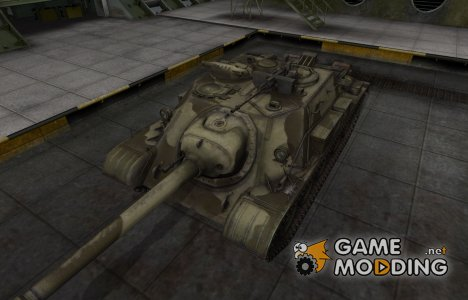 Пустынный скин для СУ-122-54 для World of Tanks