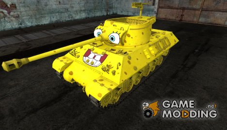 "шкурка для M36 Slugger ""Sponge Bob"" для World of Tanks"