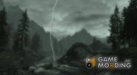 Молнии во время грозы for TES V Skyrim