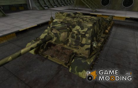 Скин для СУ-100 с камуфляжем для World of Tanks