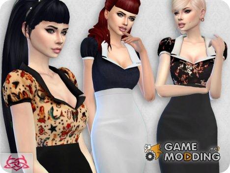 Matilde blouse RECOLOR 7 для Sims 4
