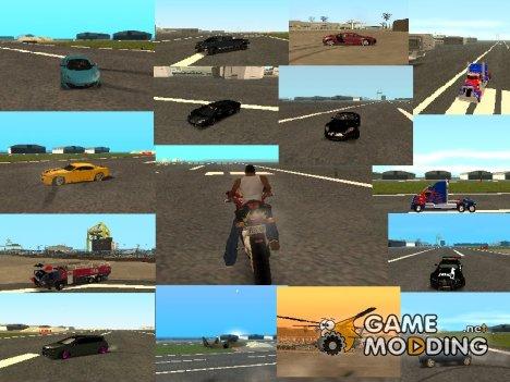 Пак транспорта из Фильма Трансформеры для GTA San Andreas