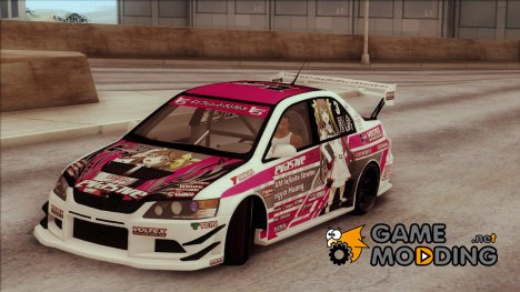 Mitsubishi Lancer EVO IX - Itasha for GTA San Andreas