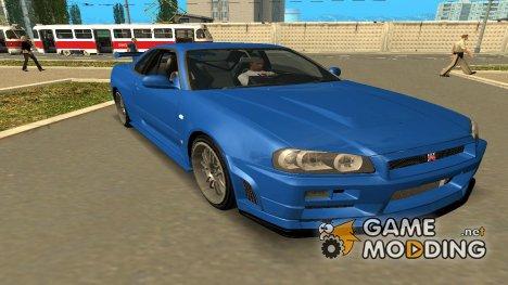 2002 Nissan Skyline GT-R R34 for GTA San Andreas