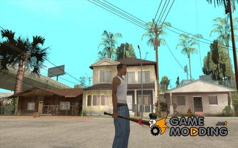 Бита с красной повязкой для GTA San Andreas