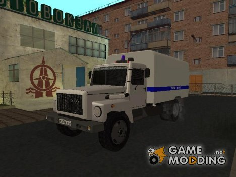 Газ 3309 Милиция for GTA San Andreas