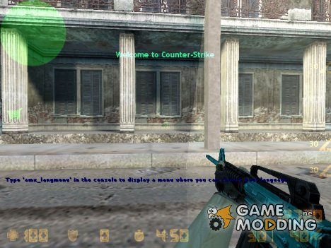 LTblue m4a1 для Counter-Strike 1.6