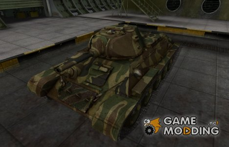 Скин для танка СССР T-34 for World of Tanks
