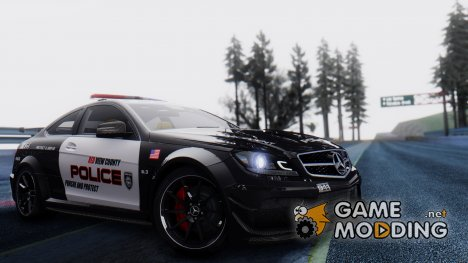 Mercedes-Benz C 63 AMG Black Series Police для GTA San Andreas
