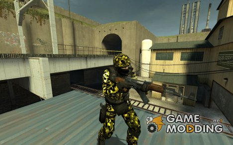 gsg9 yellow camo для Counter-Strike Source