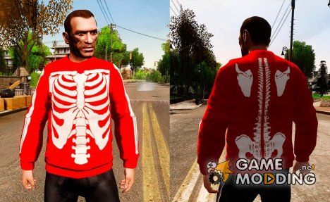 Red Skeleton Jumper for GTA 4