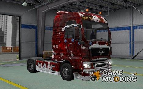 Скин Winter для MAN TGX for Euro Truck Simulator 2