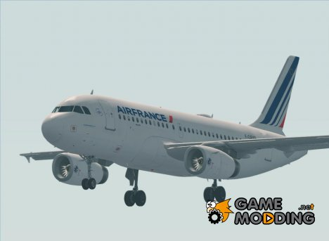 Airbus A319-100 Air France for GTA San Andreas